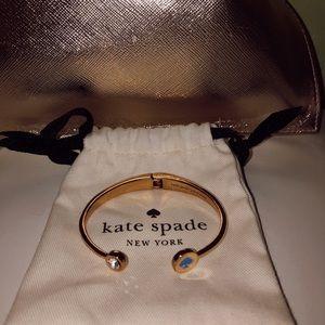 Kate Spade New York Logo and Gem Cuff Bracelet